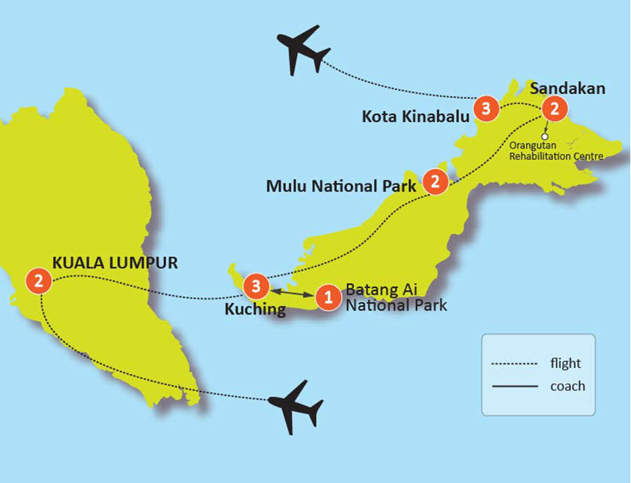 15-DAY MALAYSIA AND BORNEO IN DEPTH TOUR