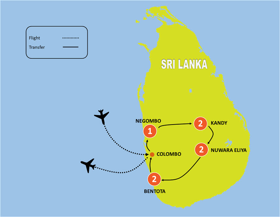 8 Day Luxury Sri Lanka Honeymoon Package