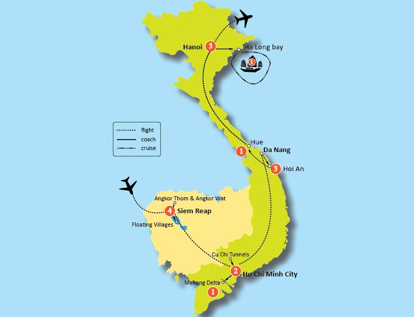 16-DAY VIETNAM AND CAMBODIA DISCOVERY TOURS
