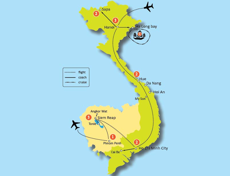 15-DAY BEST OF VIETNAM AND CAMBODIA TOURS