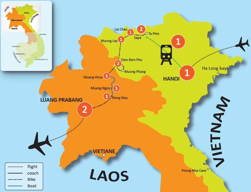 16-DAY VIETNAM & LAOS BIKING TOUR