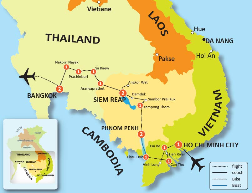 18-DAY VIETNAM, CAMBODIA & THAILAND CYCLING TOUR